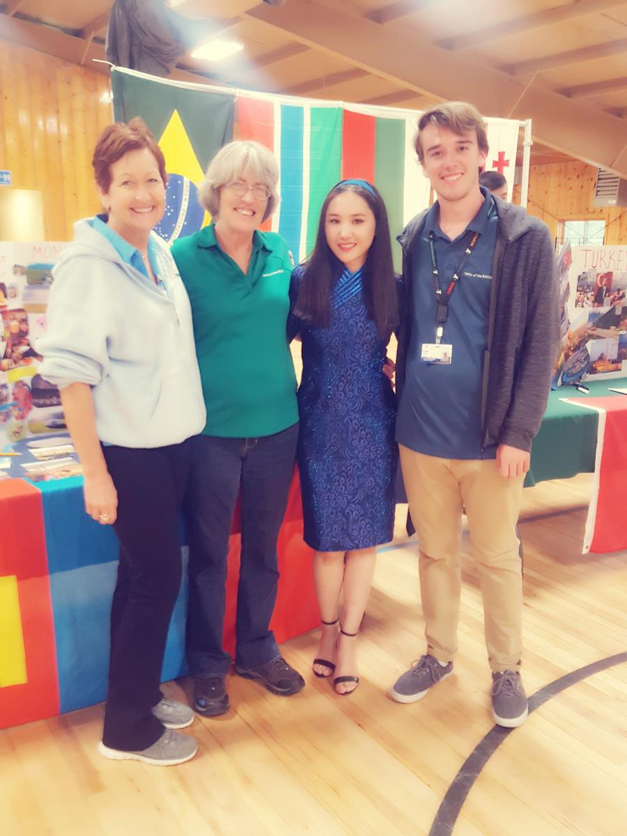Sainbayar with Her Colleagues at the YMCA International Fair