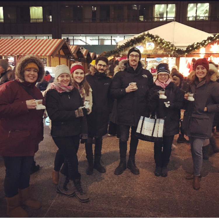 Intern Team and Participants at the Christkindlmarket