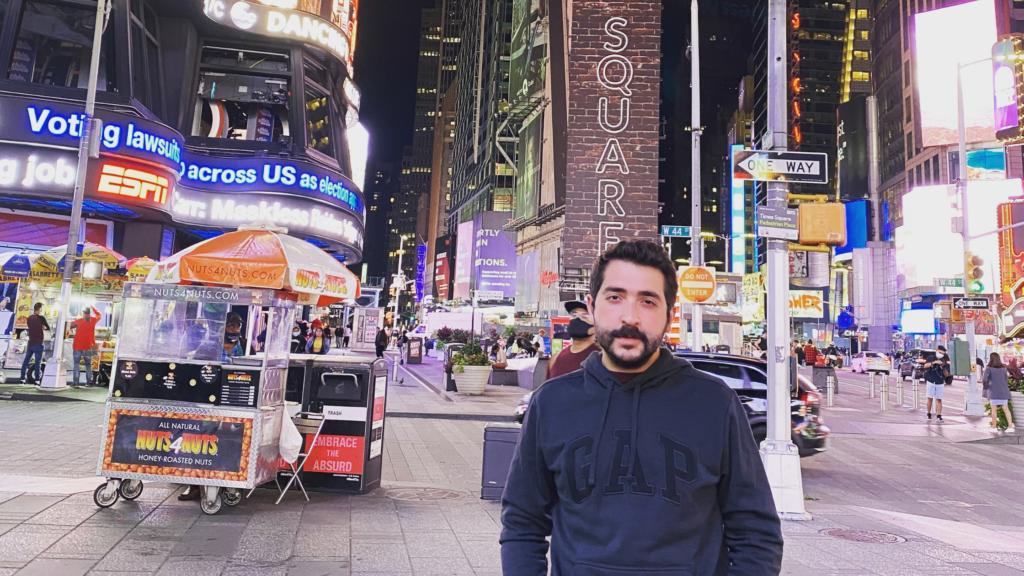 Eray in Times Square