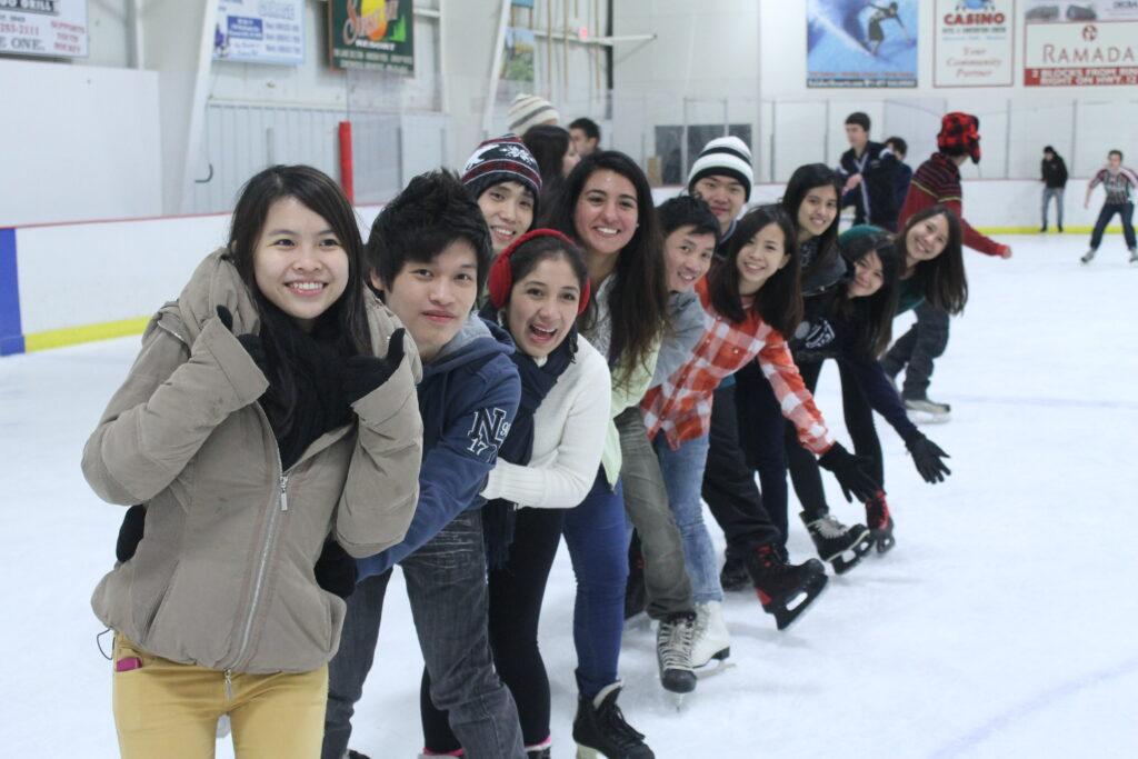 Spirit Participants Ice Skating